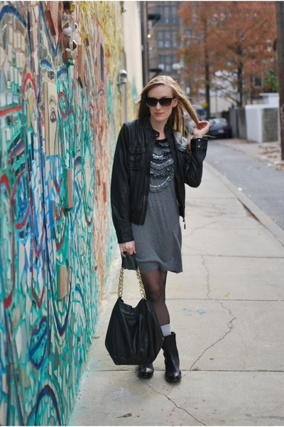 black Urban 1972 jacket - heather gray Urban 1972 dress - black calvin klein boo