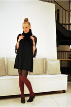black Urban 1972 dress - maroon American Apparel socks - black Oak NYC wedges