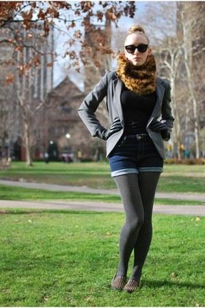 black Marc Jacobs sunglasses - heather gray Urban Outfitters blazer - blue Urban