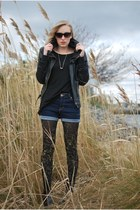black We Love Colors tights - blue Urban Outfitters shorts - silver Marc Jacobs
