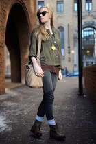 army green Urban 1972 blouse - black Marc Jacobs sunglasses - heather gray Gap j