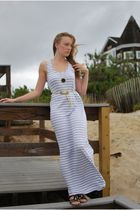white Gap dress - gold Urban Outfitters belt - black House of Harlow 1960 neckla