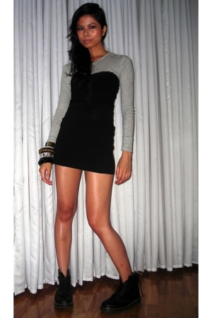 Gap shirt - Folded & Hung top - American Apparel skirt - doc martens shoes