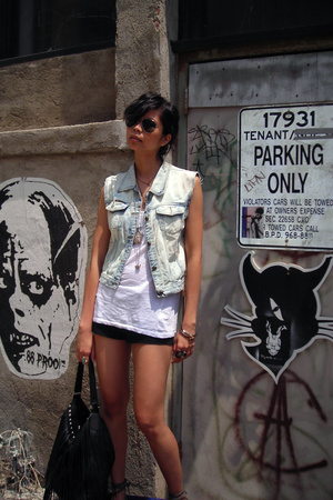 DIY vest - H&M top - Stradivarius accessories - H&M sunglasses