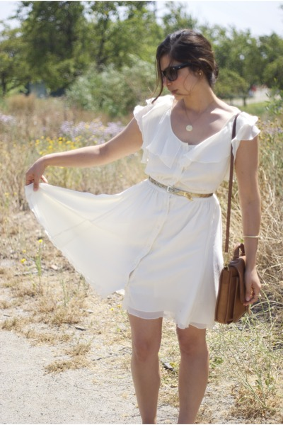 gold vintage belt - ivory jovovich-hawk for target dress