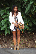 black floral romper Urban Outfitters romper - camel Urban Outfitters boots