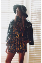 black floppy hat Urban Outfitters hat - black Nasty Gal jacket