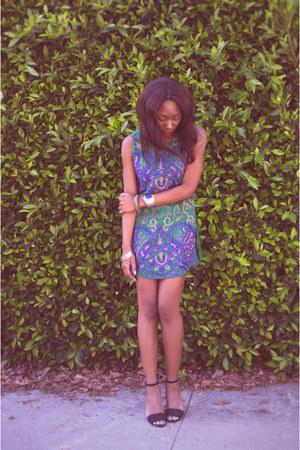 green vintage dress PUR Vintage dress
