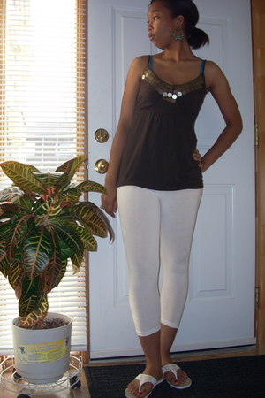 Dynamite top - Stitches tights - Aldo earrings - Spring shoes