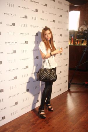 white Zara top - black Some boutique in Soho leggings