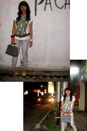 t-shirt - Rusty belt - CHAOS purse - Guess accessories - gabino shoes - CHAOS sc