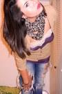 Charlotte-russe-scarf-destroyed-jeans-beige-charlotte-russe-cardigan