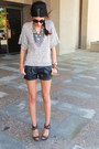 Bcbg-sweater-buffalo-shorts-burberry-heels