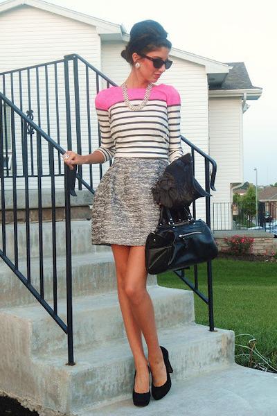 Jcrew top - Zara dress
