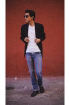 black c&a blazer - white c&a shirt