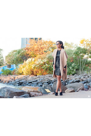 black 31 Phillip Lim dress - Steve Madden boots - nude Zara coat