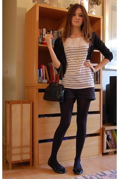 H&M top - Topshop shirt - Topshop shorts - Office shoes - Accessorize accessorie