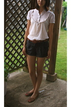 Nordstrom top - forever 21 shorts - belt - payless shoes