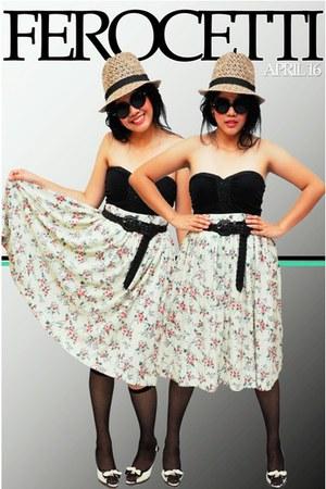 corset Ferocetti top - floral Ferocetti skirt