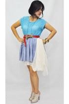 Ferocetti blouse - Ferocetti skirt - Parisian heels