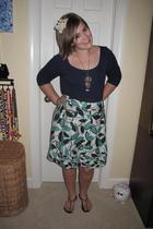 Lilly Pulitzer top - BCBG skirt - Ocean Minded shoes - Anomalie accessories - vi