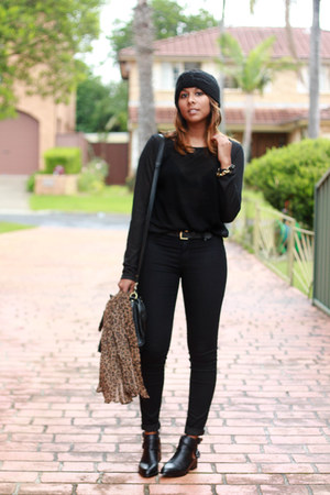 black cut-out Windsor Smith boots - black moto skinny Topshop jeans