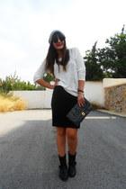 Zara skirt - Zara boots - Zara blouse