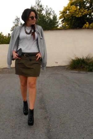 vintage jacket - sammydress boots - Zara blouse - Zara skirt