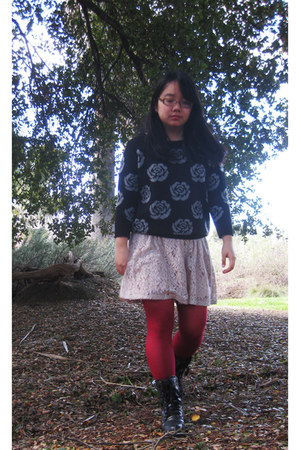 cutesygirl boots - Forever 21 dress - asos jumper