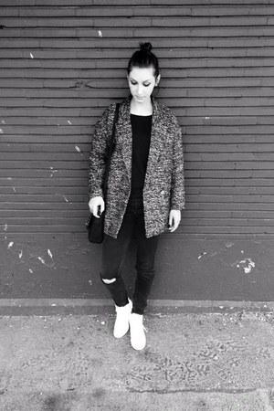 black wool H&M blazer