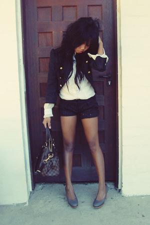 Mossimo blazer - JOne shirt - supre shorts - Kookai shoes