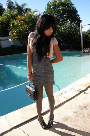 Britnet blazer - Gripp Jeans dress - bardot shoes - Chanel purse