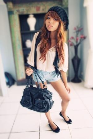 Kmart accessories - vest - wish blouse - Mink Pink shorts - Mimco accessories -
