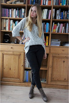 H&M jumper - H&M boots - American Apparel jeans