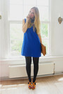 Blue-mango-dress-bronze-monki-bag-bronze-guess-heels