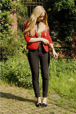 velvet Zara loafers - American Apparel jeans - vintage jacket