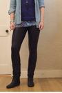 Blue-primark-shirt-black-primark-leggings-blue-primark-t-shirt-black-dunne