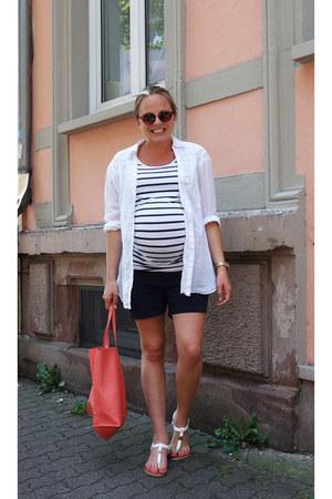 Mango bag - hm shorts - hm t-shirt - Tom Tailor sandals