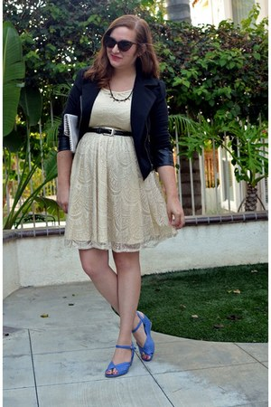 lace Ya Los Angeles dress - Dry Goods jacket - BAIT wedges