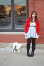 cat print Urban Outfitters shirt - fox Gingiber bag - Urban Outfitters skirt