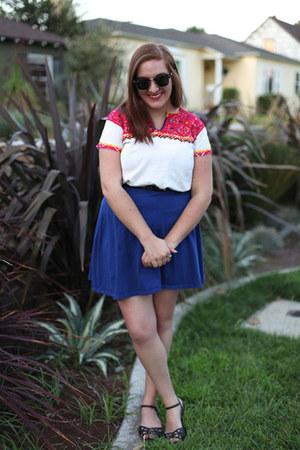 Mitla Moda top - Forever 21 skirt - threadsence sandals