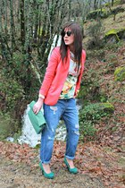 Zara blazer - BLANCO jeans - BLANCO sweatshirt - Low Cost heels