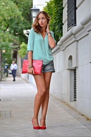 red Bimba y Lola bag - red Fórmula joven shorts
