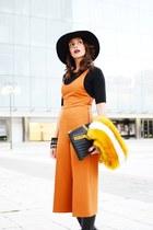 orange Zara jumper - black Massimo Dutti boots - black les petites sweater