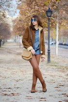 tawny Massimo Dutti jacket - burnt orange Deichmann boots
