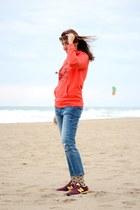 hot pink Etnia Barcelona sunglasses - violet Mango jeans