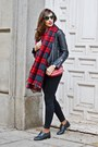 Black-levis-shoes-black-levis-jeans-ruby-red-zara-scarf
