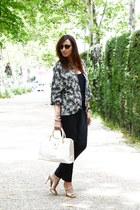 camel liu jo bag - black Zara blazer - camel LK Bennett sandals