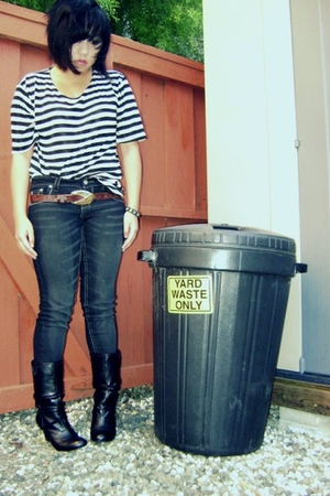 Salvation Army shirt - Paris Blues jeans - sbicca boots - Salvation Army belt -
