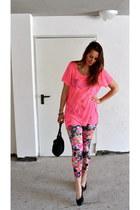 Calzedonia leggings - Fendi bag - H&M t-shirt